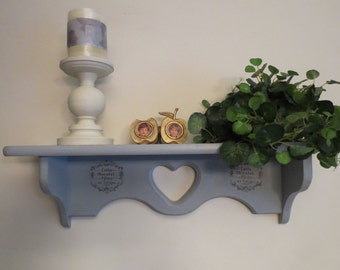 Shabby Chic Heart Plate Shelf