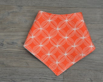 Orange Baby Bandana Bib - Modern Baby Drool Bib