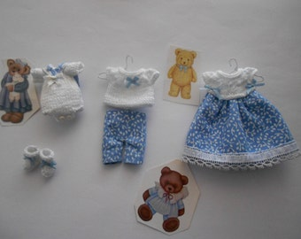 Set of miniature clothes
