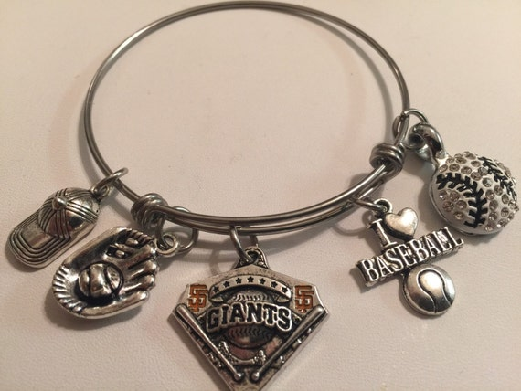 Handcrafted mlb san francisco giants charm bracelet by for San francisco handmade jewelry