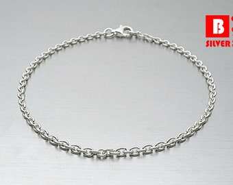 925 Sterling Silver Bracelet, Cable Chain (Code : YC1)