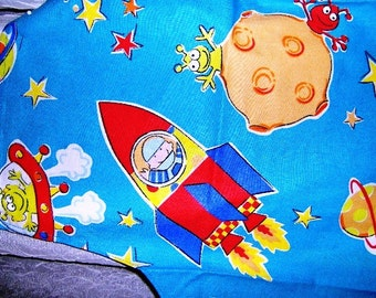 Child Aprons Space Alien Rocket Planet