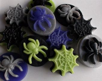 Spider Soap - Halloween Soap, Halloween Favors, Spider Party Favors, Spider Favors, Halloween Party Favor, Halloween Gift - 10 Piece Set