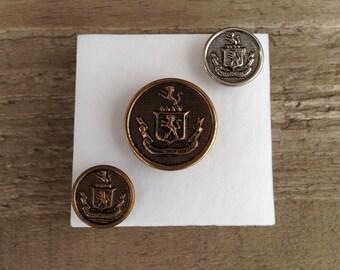 military button thumb tacks - push pins