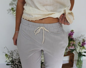 SALE!! Organic Cotton 3/4 Summer Pant - Ash