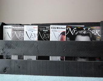 Black Magazine/Wine Rack