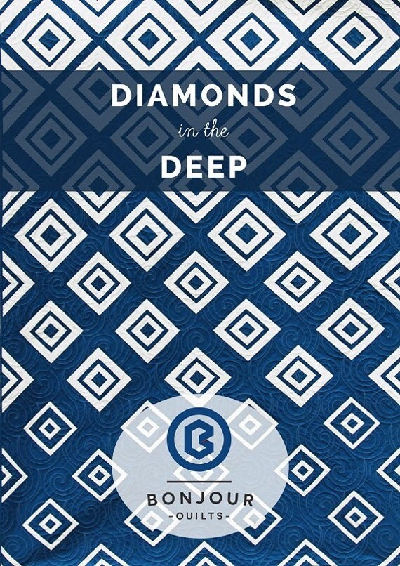 Diamond in the Deep quilt pattern by Bonjour Quilts Kirsty
