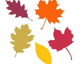 Autumn Leaf Selection set 2 Digital download