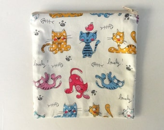 reusable sandwich bag, zippered snack bag, eco friendly foodsafe lunch bags, READY TO SHIP