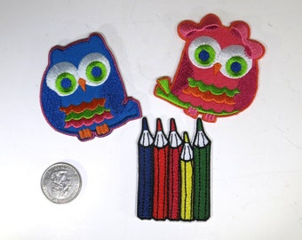 """3pc Iron-on """"back to school"""", applique, application (P3)"""