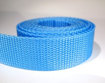 3 yards of 1 inch / 25mm light blue webbing, strap (WB34)
