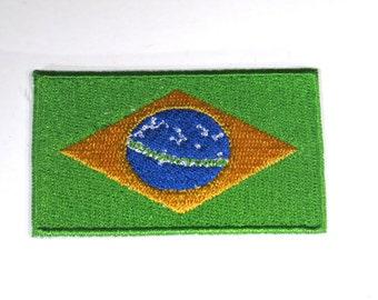 "Iron-on ""Brazil flag"", applique, application (P106)"