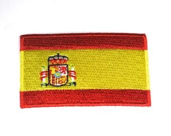 "Iron-on ""Spain flag"", applique, application (P107)"