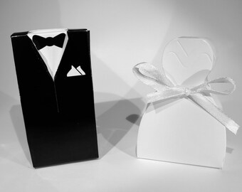 "40pc ""bride and groom"" wedding favor boxes (D7)"