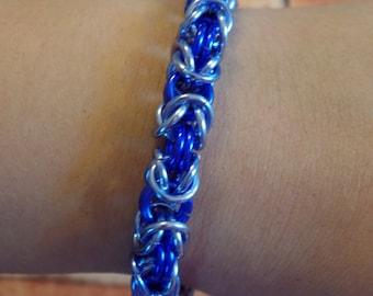 Purple & Lavendar Byzantine Weave Chainmaille Bracelet
