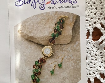 Simply Beads, Jewelry Kit for a Watch Kit-of-the-month