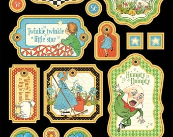 ON SALE - Graphic 45 Mother Goose Chipboard Die-Cuts 1 - Item 4500762
