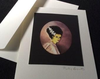 Fine Art Greeting Card, Bride of Frankenstein
