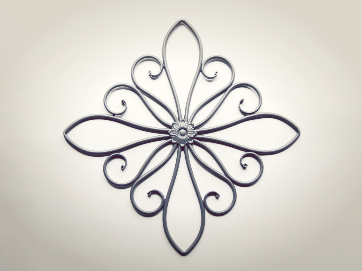 Metal Wall Scroll Outdoor Decor Wall Medallion By