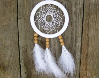 White Nursery Dream Catcher Wall Hanging Baby Dreamcatcher Native American Hanging