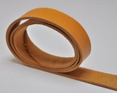 Premium real leather strap -100cm Long YELLOW Vintage/Antique Look Veg-Tan (2.3-2.4 mm)