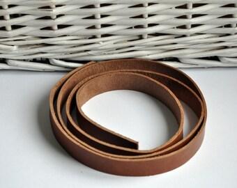 Premium real leather strap -90cm Long Saddle Tan color Vintage/Antique Look Veg-Tan (1.8-2.4 mm)
