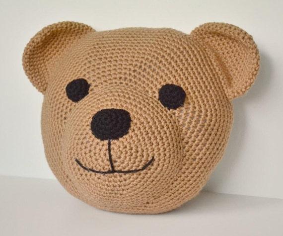 CROCHET PATTERN: Teddy Bear Pillow amigurumi stuffed animal