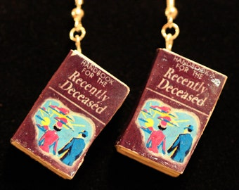 Handbook for the Recently Deceased Mini-Book Earrings
