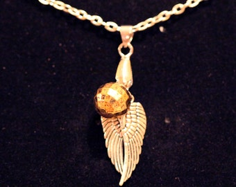 Quidditch Snitch Charm Necklace