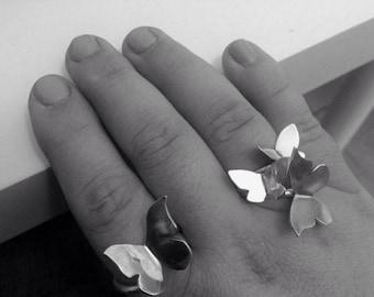 Butterfly  3 rings set - Silver Butterfly - Butterflies