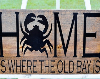 Home is where the Old Bay is sign