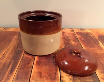 Vintage Stoneware Crock with Lid