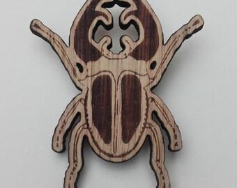 Oak Stagbeetle Woodland Brooch