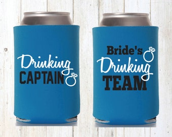 Bride's Drinking Team Beer Cozies Bachelorette Party