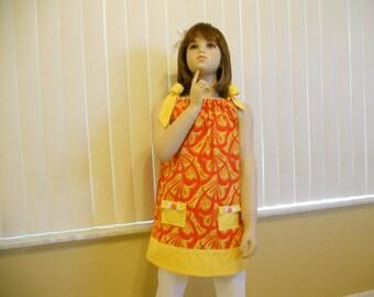 girls pillow case dress in a size 4.