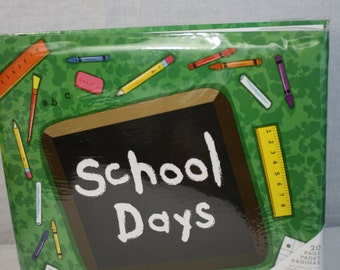 """MBI Green School Days 12""""x12"""" Top Loading Scrapbook with 20 Pages"""