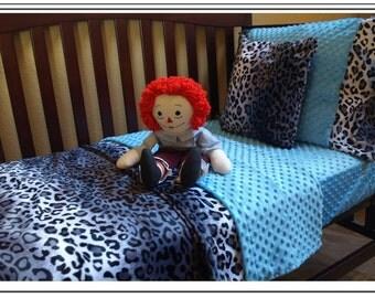 Leopard Print Toddler Bedding Set