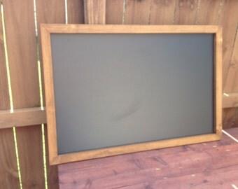 """24"""" x 36"""" Rustic Framed Chalkboard, Rustic Wedding Chalkboard, Kitchen Menu, Menu Board, Rustic Frame"""