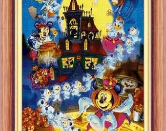 cross stitch pattern, cross stitch, Disney Halloween 6 - cross stitch pattern - PDF pattern - instant download!