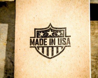 Made in USA Pocket Notepad - Hand Stamped - USA Made - 100% Recycled Paper