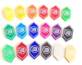 Android: Netrunner 3 credit tokens (10 pieces) - 21 colours