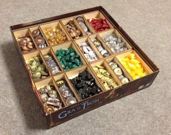 Game of Thrones board game, wood insert to store all components, storage solution