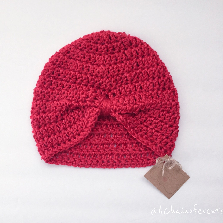 Free Crochet Pattern For Baby Turban : Crochet Baby Turban