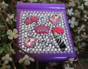 LED compact mirror, compacts, mirrors, blinged out mirrors, mirrors, compacts with bling