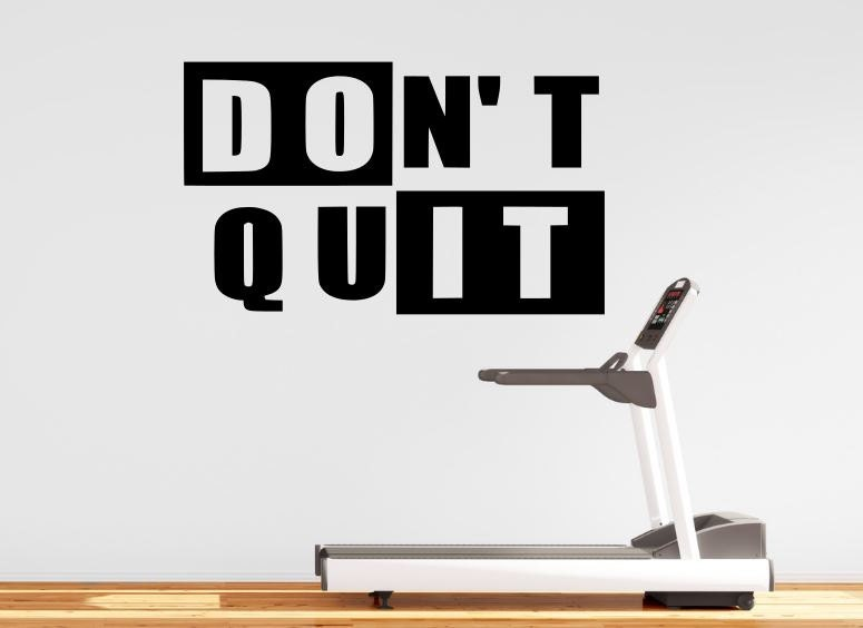 Gym wall decal for home motivational fitness don t