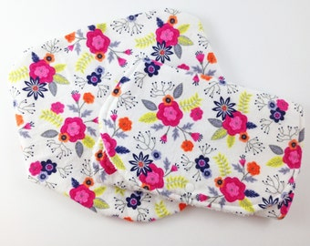 Bib and Burp Cloth Set - Bibs and Burp Cloths for Girls - New Baby Girl Gift Set - Baby Bibs and Burp Cloths Girl - Burp Cloth Set Girl