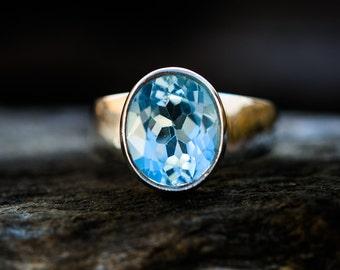 Blue Topaz Ring - Blue Topaz Ring 8.5 - Blue Topaz Jewelry - December Birthstone - Gift for Her - Sky Blue Topaz Ring - jewelry