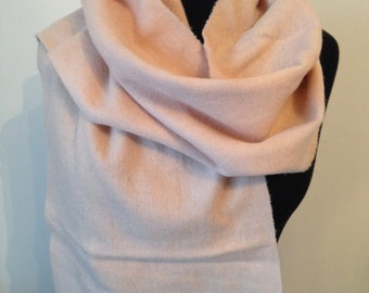 scarf wool and cashmere, rose.