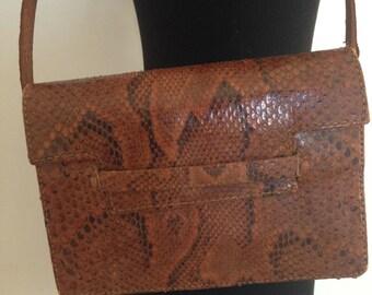 vintage, snake, boa, 70s bag