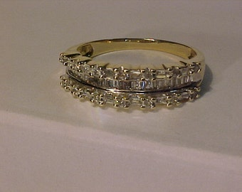 10k y/w/gold Anniversary ring*1.125 carat of Diamonds-Appraised-2,550.00